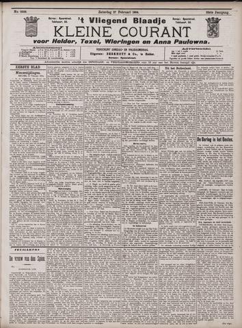 Vliegend blaadje : nieuws- en advertentiebode voor Den Helder 1904-02-27