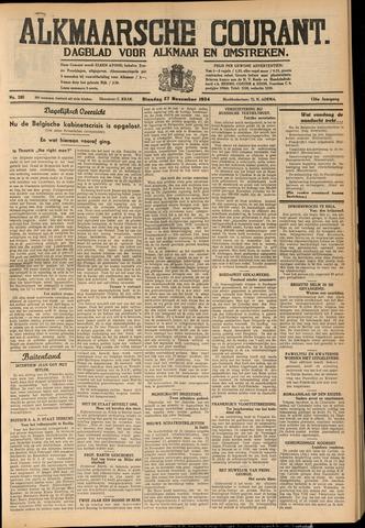 Alkmaarsche Courant 1934-11-27
