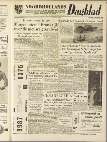 Noordhollands Dagblad : dagblad voor Alkmaar en omgeving 1958-09-27