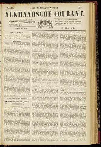 Alkmaarsche Courant 1884-03-19