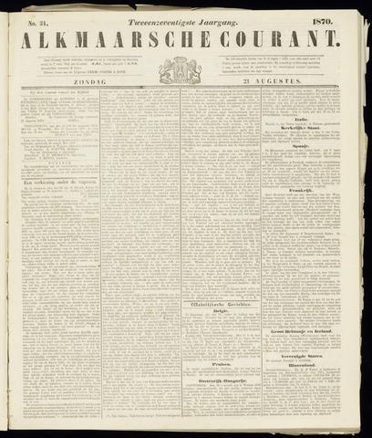 Alkmaarsche Courant 1870-08-21