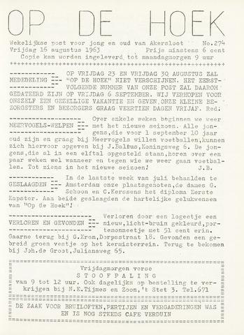 Op De Hoek, weekblad voor Akersloot 1963-08-16