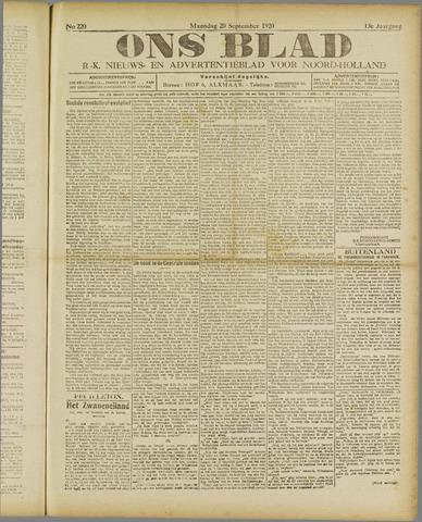 Ons Blad : katholiek nieuwsblad voor N-H 1920-09-20