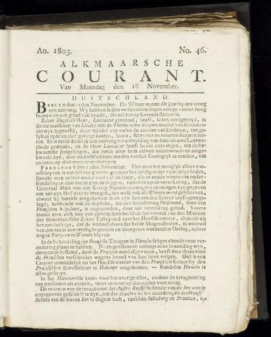 Alkmaarsche Courant 1805-11-18