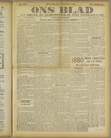 Ons Blad : katholiek nieuwsblad voor N-H 1919-12-27