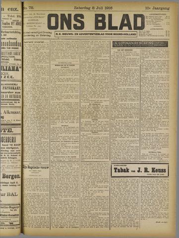 Ons Blad : katholiek nieuwsblad voor N-H 1916-07-08