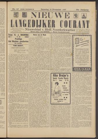 Nieuwe Langedijker Courant 1927-11-19