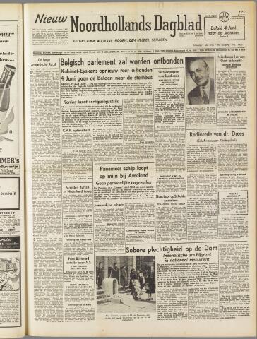 Nieuw Noordhollandsch Dagblad : voor Alkmaar en omgeving 1950-05-01