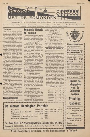 Contact met de Egmonden 1962-01-04