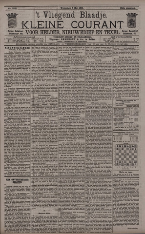 Vliegend blaadje : nieuws- en advertentiebode voor Den Helder 1895-05-08
