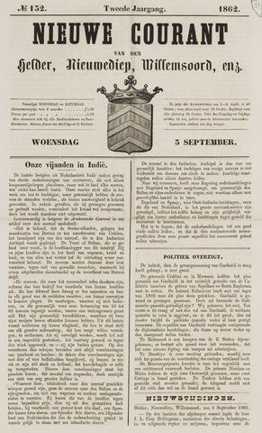 Nieuwe Courant van Den Helder 1862-09-03