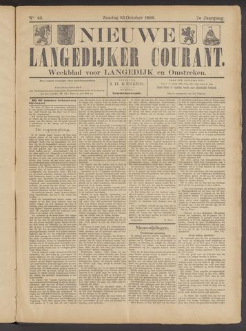 Nieuwe Langedijker Courant 1898-10-23