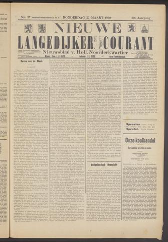 Nieuwe Langedijker Courant 1930-03-27