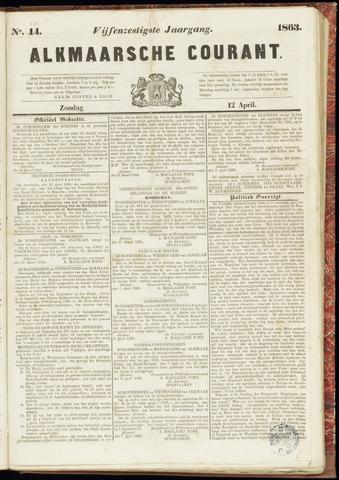 Alkmaarsche Courant 1863-04-12