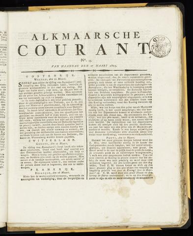 Alkmaarsche Courant 1815-03-27