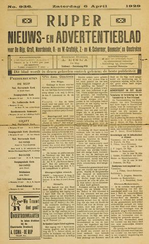 Rijper Nieuws- en Advertentieblad 1929-04-06