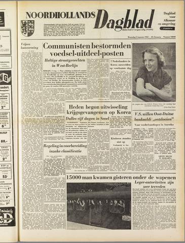 Noordhollands Dagblad : dagblad voor Alkmaar en omgeving 1953-08-05