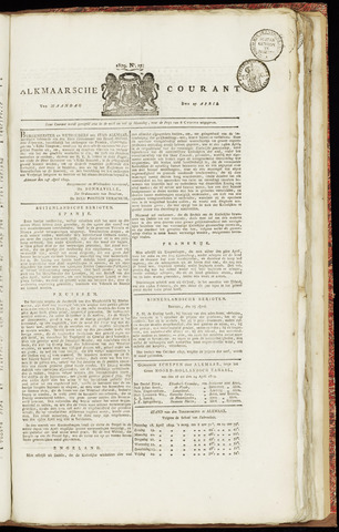 Alkmaarsche Courant 1829-04-27
