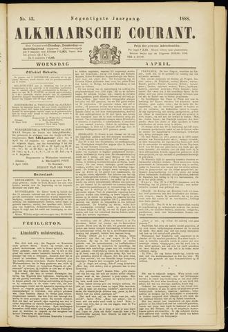Alkmaarsche Courant 1888-04-04