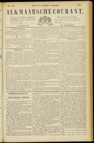 Alkmaarsche Courant 1885-08-21