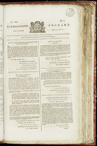 Alkmaarsche Courant 1820-04-04