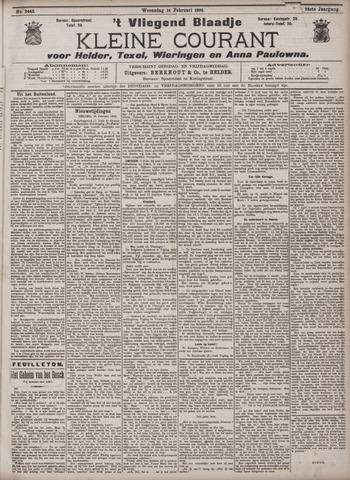Vliegend blaadje : nieuws- en advertentiebode voor Den Helder 1906-02-14