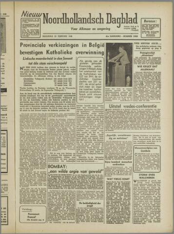 Nieuw Noordhollandsch Dagblad : voor Alkmaar en omgeving 1946-02-25