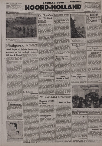 Dagblad Noord-Holland, Schager editie 1942-08-11