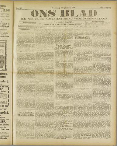 Ons Blad : katholiek nieuwsblad voor N-H 1920-09-08