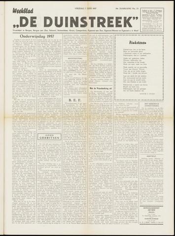 De Duinstreek 1957-06-07