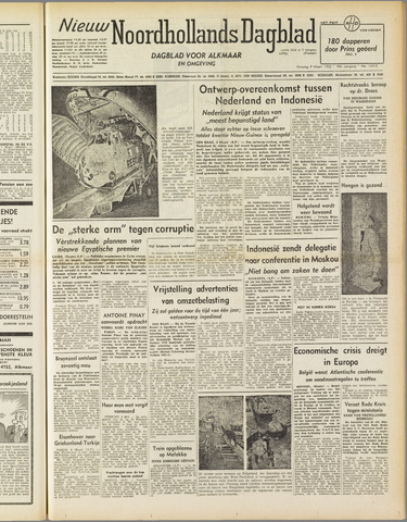 Nieuw Noordhollandsch Dagblad : voor Alkmaar en omgeving 1952-03-04