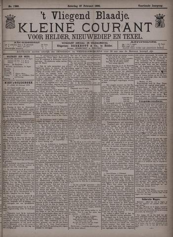 Vliegend blaadje : nieuws- en advertentiebode voor Den Helder 1886-02-27