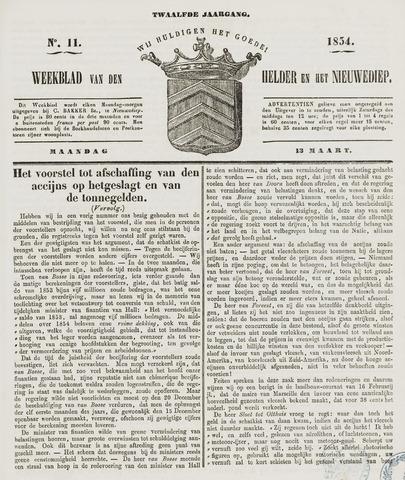 Weekblad van Den Helder en het Nieuwediep 1854-03-13
