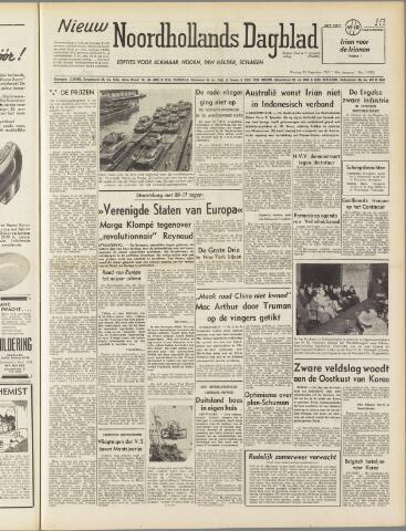 Nieuw Noordhollandsch Dagblad : voor Alkmaar en omgeving 1950-08-29