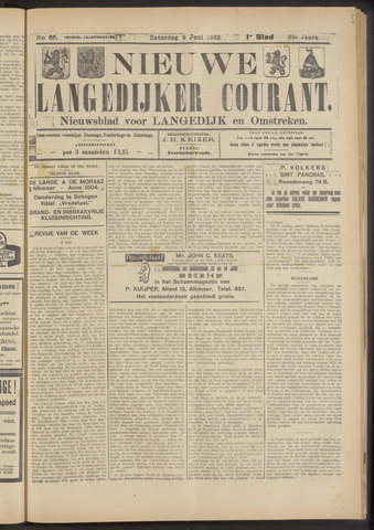 Nieuwe Langedijker Courant 1923-06-09