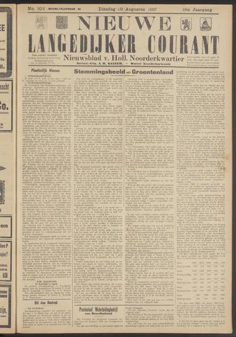 Nieuwe Langedijker Courant 1927-08-30