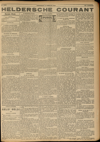 Heldersche Courant 1924-02-14