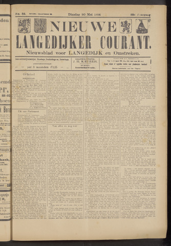 Nieuwe Langedijker Courant 1924-05-20