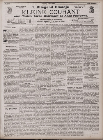 Vliegend blaadje : nieuws- en advertentiebode voor Den Helder 1904-07-02