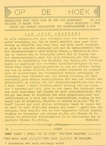 Op De Hoek, weekblad voor Akersloot 1964-03-20
