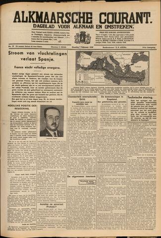 Alkmaarsche Courant 1939-02-07