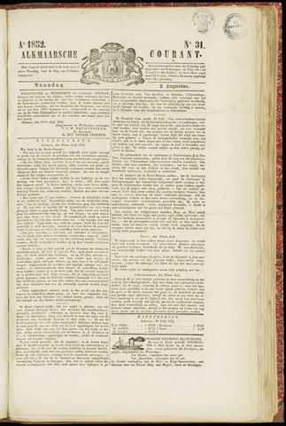 Alkmaarsche Courant 1852-08-02