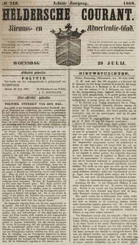 Heldersche Courant 1868-07-29