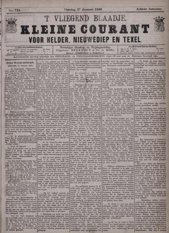 Vliegend blaadje : nieuws- en advertentiebode voor Den Helder 1880-01-27