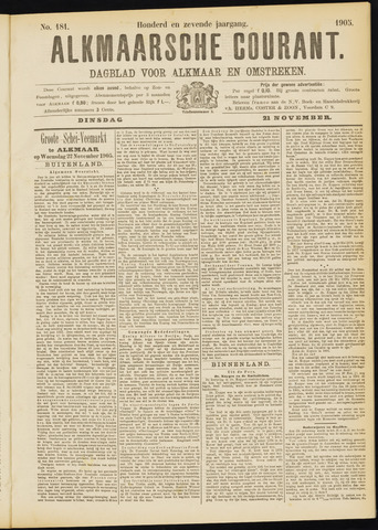 Alkmaarsche Courant 1905-11-21