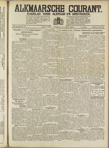 Alkmaarsche Courant 1941-05-13