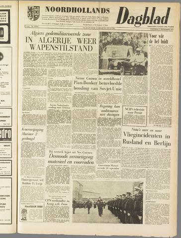 Noordhollands Dagblad : dagblad voor Alkmaar en omgeving 1962-09-05