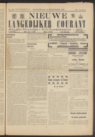 Nieuwe Langedijker Courant 1933-09-21