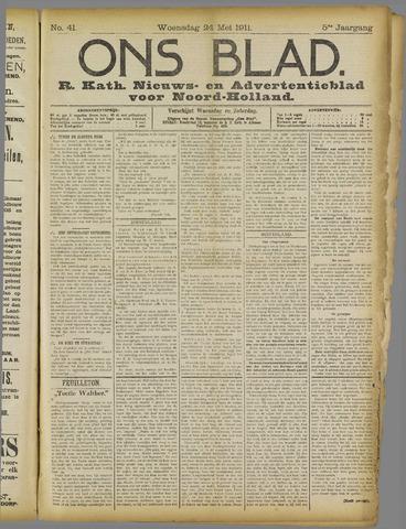Ons Blad : katholiek nieuwsblad voor N-H 1911-05-24
