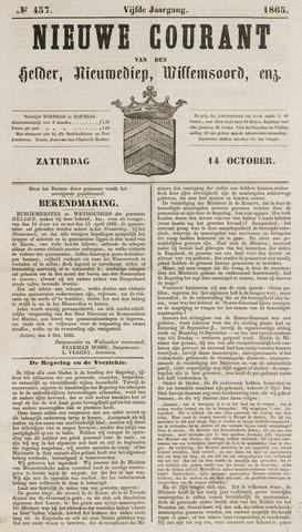 Nieuwe Courant van Den Helder 1865-10-14